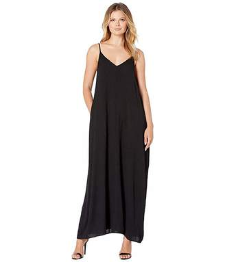 American Rose Camilla Spaghetti Strap Pocketed Maxi Dress