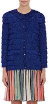 Missoni Women's Metallic Fringed Cardigan Sweater-NAVY