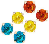 C. Wonder Set of 3 Faceted Crystal Stud Earrings