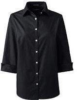 Classic Women's Regular 3/4 Sleeve Broadcloth Shirt-Rich Red