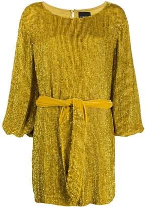 retrofete long-sleeve shift dress
