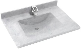 "Swan Surfaces Contour 25"" Single Bathroom Vanity Top Swan Surfaces Top Finish: Ice"