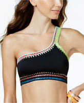 Bar III Be Weave It One-Shoulder Bikini Top, Created for Macy's