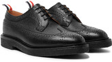 Thom Browne Pebble-Grain Leather Longwing Brogues