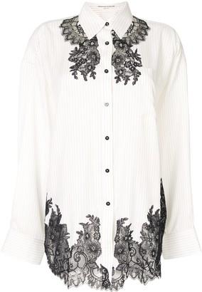 Ermanno Scervino Striped-Print Silk Shirt