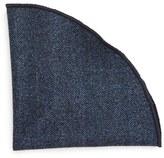Alexander Olch Men's 'Gable' Herringbone Wool Pocket Round