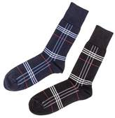 Black Set of Two Egyptian Cotton Tartan Socks