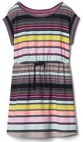 Gap Stripe drawstring dress