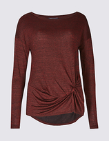 M&S Collection Metallic Knot Front Long Sleeve T-Shirt