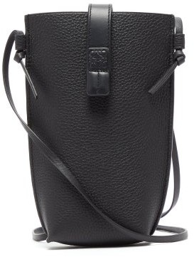 Loewe Pocket Grained-leather Cross-body Bag - Mens - Black