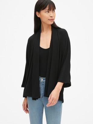 Gap Softspun Ribbed Kimono Cardigan Sweater