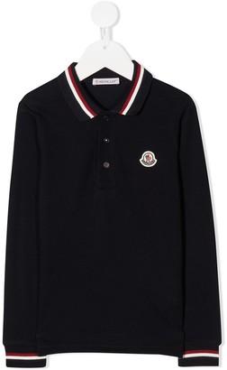 Moncler Enfant Embroidered Logo Polo Shirt
