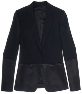 Helmut Lang Leather Combo Blazer