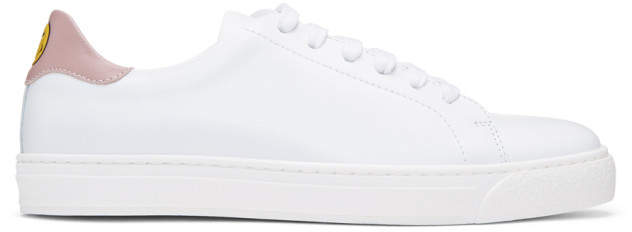 Anya Hindmarch SSENSE Exclusive White and Pink Wink Tennis Sneakers