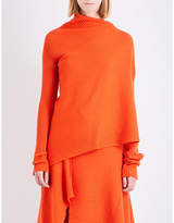 Marques Almeida Asymmetric knitted wool top