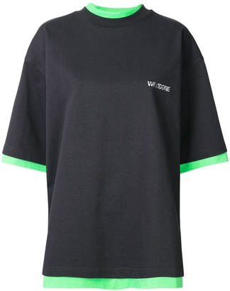 we11done oversized reversible T-shirt