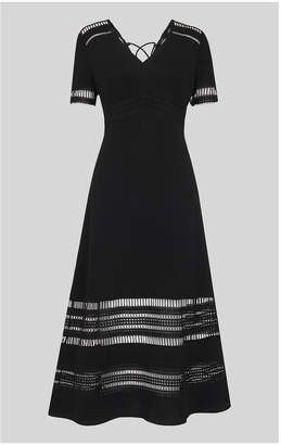 Whistles Elisa Lace Detail Midi Dress