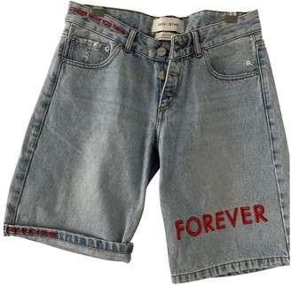 Each X Other Each X Blue Denim - Jeans Shorts for Women