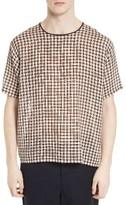 Acne Studios Men's Woven Plaid T-Shirt