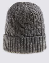 Marks and Spencer Donegal Cable Knitted Beanie