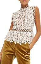 Topshop Women's Eyelet Lace Shell Blouse
