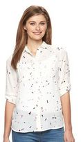 Apt. 9 Women's Dot Roll-Tab Blouse