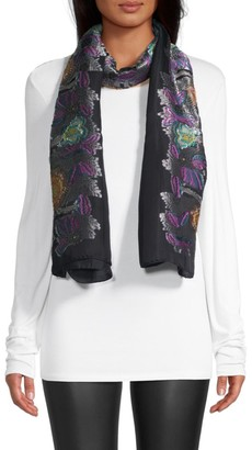 Etro Embroidered Evening Scarf