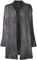 Avant Toi cabled knitted cardigan