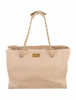 Chanel Reissue Shopper Tote Tan