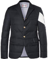 Moncler Gamme Bleu Quilted Twill Down Blazer - Navy
