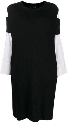 Y's Contrast-Panel Knit Dress