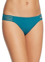 Red Carter Solid Classic Hipster Bikini Bottom