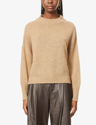 360 Cashmere Clementine high-neck wool and cashmere-blend jumper