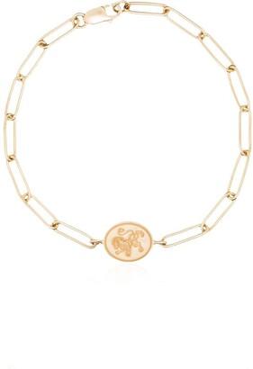Retrouvai 14kt yellow gold lion signet bracelet