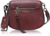 Marc Jacobs Recruit Blackberry Leather Small Saddle Bag