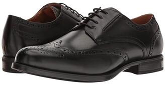 Florsheim Midtown Wingtip Oxford (Black Smooth) Men's Lace Up Wing Tip Shoes
