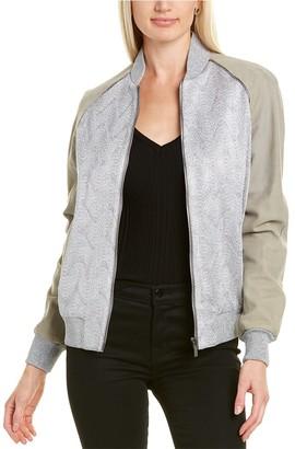 Missoni Leather-Trim Bomber Jacket
