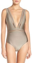 Ted Baker Women's Plunge One Piece Swimsuit