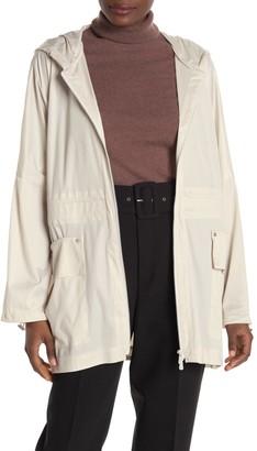 SOSKEN Hooded Zip Up Rain Jacket
