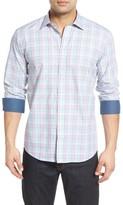 Bugatchi Men's Shaped Fit Check Sport Shirt