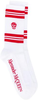 Alexander McQueen Socks Stripe Skull