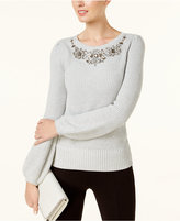 INC International Concepts Embellished Sweater, Created for Macy's