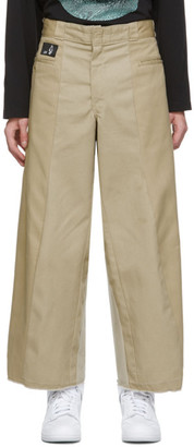 Liam Hodges Tan Paneled Work Trousers