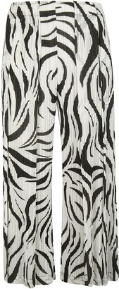 Pleats Please Issey Miyake Wide-leg Cropped Trousers