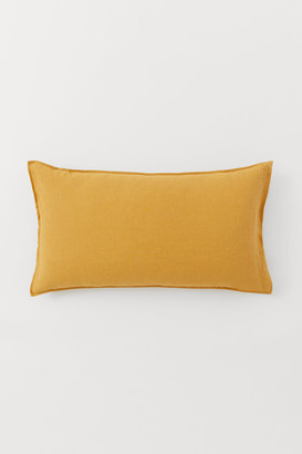 H&M Washed Linen Pillowcase - Yellow
