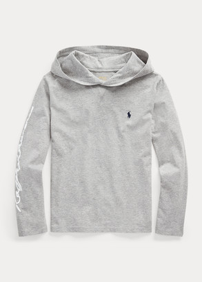 Ralph Lauren Cotton Jersey Graphic Hooded Tee