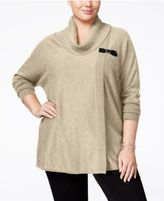 JM Collection Plus Size Cowl-Neck Poncho, Only at Macy's