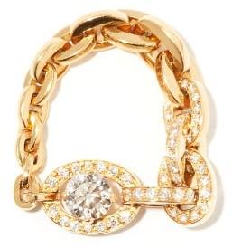 Sophie Bille Brahe Santa Fe Diamond & 18kt Gold Chain Ring - Yellow Gold