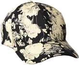 D&Y Women's Vintage Water Color Flower Print Baseball Cap
