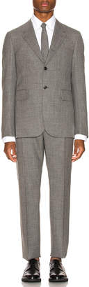 Thom Browne Wide Lapel Suit With Tie in Medium Grey | FWRD